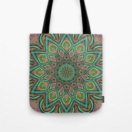 Glitched Mandala  Tote Bag