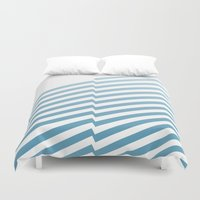 bands Duvet Covers featuring Blue Bands by blacknote