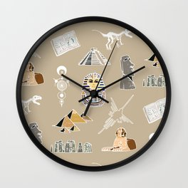 Archeo pattern Wall Clock