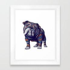 English Bulldog (Color Version) Framed Art Print