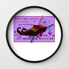 Love Potion and Love Shoes with Candy Wall Clock