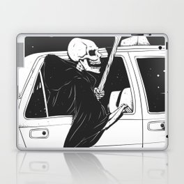 Passenger taxi grim - black and white - gothic reaper Laptop & iPad Skin
