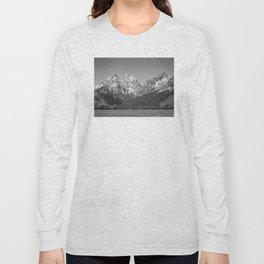 Ansel Adams - Grass Valley and Grand Tetons Long Sleeve T-shirt
