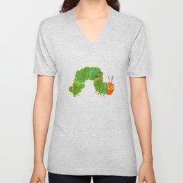 Cute The Very Hungry Caterpillar Unisex V-Neck