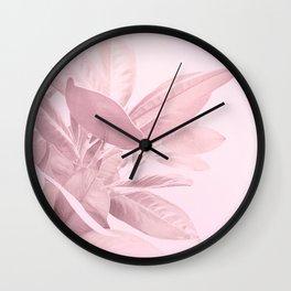 Grandiflora - soft blush Wall Clock
