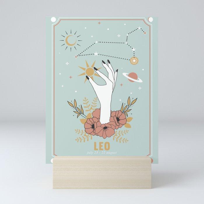Leo Zodiac Series Mini Art Print
