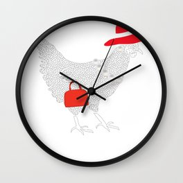 Chicken Fancy Mother Clucker Chicken Gift Wall Clock