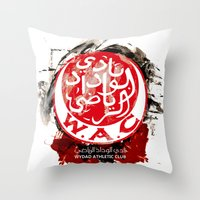 casablanca Throw Pillows featuring WAC Wydad Casablanca by Genco Demirer
