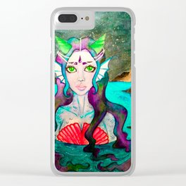 My Love The Mermaid Clear iPhone Case