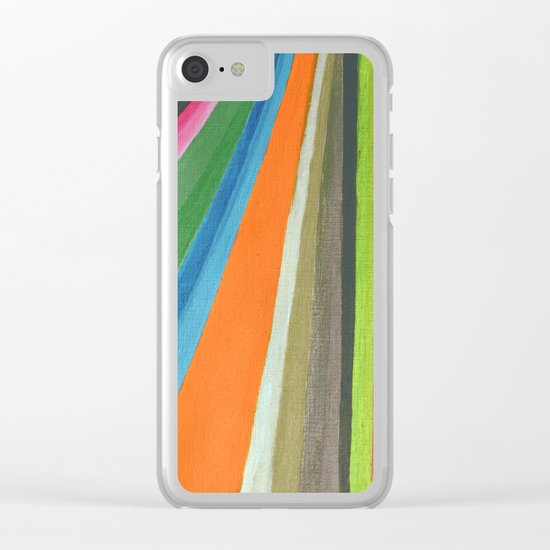 Transforming Vertical Stripes Clear iPhone Case