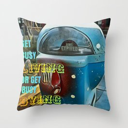 Time Flies - Get Busy Living! Throw Pillow