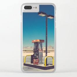 Gass pumps Clear iPhone Case