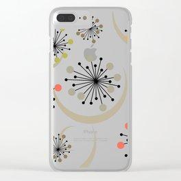 Mid Century Modern Starbursts 2 Clear iPhone Case
