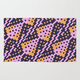 Chocktaw Geometric Square Cutout Pattern - Amazon Flower Rug
