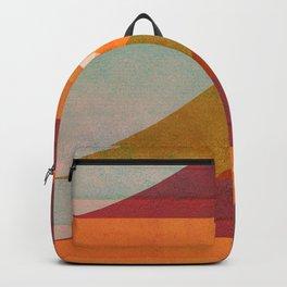 Abstraction_SUNSET_LANDSCAPE_POP_ART_Minimalism_018X Backpack