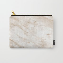 Marchionne warm caramel marble Carry-All Pouch