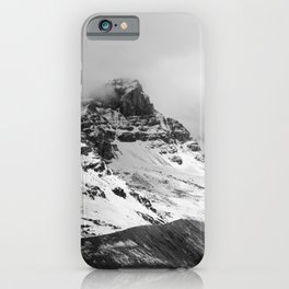 Mountain Minimalism Glacier Alberta | Black and White Photography iPhone Case