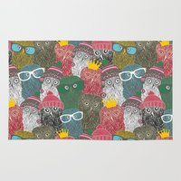 it crowd Area & Throw Rugs featuring The crowd. by panova