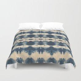Indigo Beetle Shibori Duvet Cover