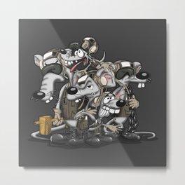 Line Rats Metal Print