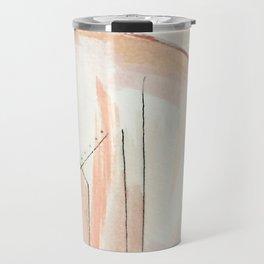 Aly [4]: minimal | pinks | white | black | mixed media | abstract | ink | watercolor | wall art Travel Mug