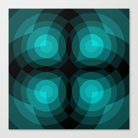 Blue Interference Canvas Print