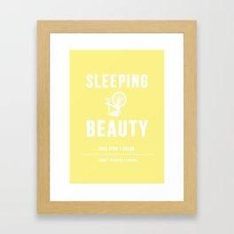 Disney Princesses: Sleeping Beauty Minimalist Framed Art Print