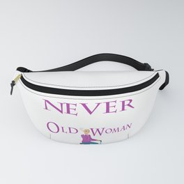 Never Underestimate An Old Woman With A Bicycle Gift T- Fanny Pack