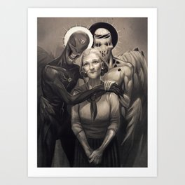 Josie and the Angels Art Print
