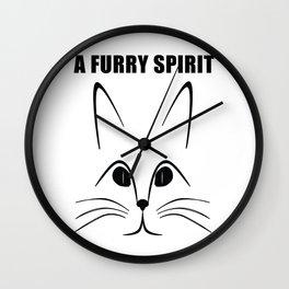 A  FURRY SPIRIT Wall Clock