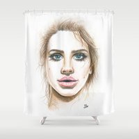 lana Shower Curtains featuring Lana  by Ami Leigh Barrett