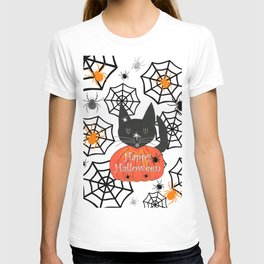 Happy Halloween Black Cat T-shirt
