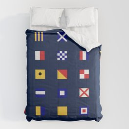 Maritime Flags Comforters