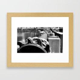 Dam Gears Framed Art Print