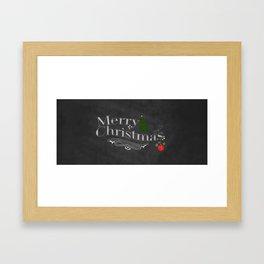 Chalkboard Vintage Christmas Print Framed Art Print