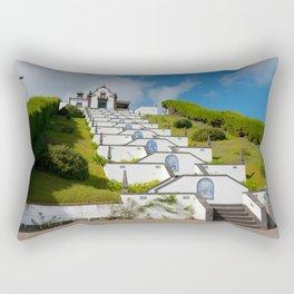 Chapel in Azores islands Rectangular Pillow