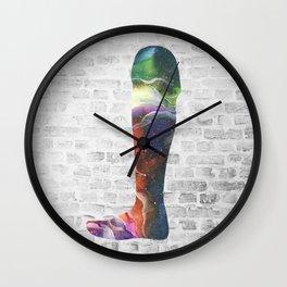 Space Galaxy Leg Wall Clock