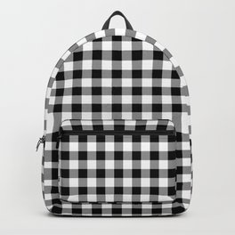 Classic Black and White Western Cowboy Buffalo Check Backpack