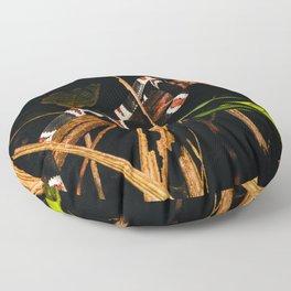 snake, harlequin coral Floor Pillow