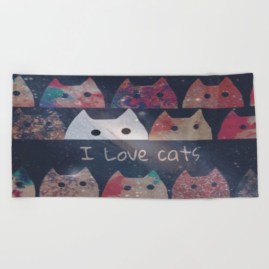 cat-257 Beach Towel