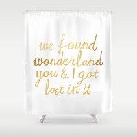 wonderland Shower Curtains featuring Wonderland by Tangerine-Tane