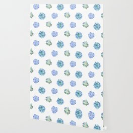 Bue and gren succulents pattern Wallpaper