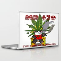 cannabis Laptop & iPad Skins featuring TIMMY THE CANNABIS BEAR  by Timmy Ghee CBP/BMC Images  copy written