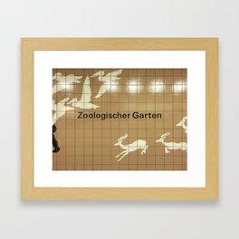 Berlin U-Bahn Memories - Zoologischer Garten Framed Art Print