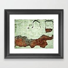 i like to save the crumbs. Framed Art Print