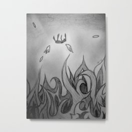 Fallen to Fire Metal Print