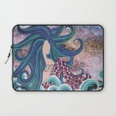 Midnight Blue Mermaid Laptop Sleeve