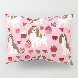 Cavalier King Charles Spaniel valentines day hearts valentine dog breed custom gift for dog lover Pillow Sham