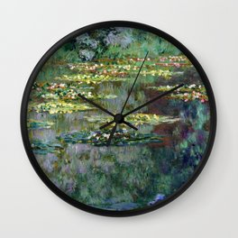 Claude Monet Le Bassin des Nympheas Wall Clock
