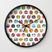foo fighters Wall Clocks featuring Street Fighters by Kid Khronos